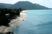 The Lamai beach overview in Samui island in Thailand — Stock Photo