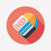 Eraser flat icon with long shadow,eps10 — Stockvektor