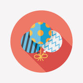 Balloons flat icon with long shadow,eps10 — Stockvektor