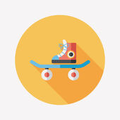 Skateboard flat icon with long shadow — Vettoriale Stock