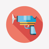 Toy gun flat icon with long shadow,eps10 — Stock Vector