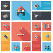 Kid toys flat ui background,eps10 — Stock Vector
