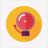 Alarm bell flat icon with long shadow,eps10 — Stock Vector