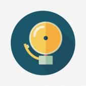 Alarm bell flat icon with long shadow,eps10 — Vector de stock