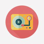DJ music flat icon with long shadow,eps10 — Stock Vector
