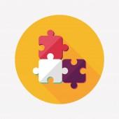 Puzzle icône plate à grandissime, eps 10 — Vecteur