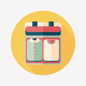 Vintage travel suitcases, flat icon with long shadow — Vecteur