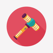Toy hammer flat icon with long shadow,eps10 — Stockvektor