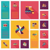 Kid toys flat app ui background,eps10 — Stock Vector