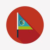 Flag flat icon with long shadow — Stockvektor