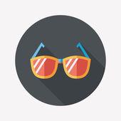 Solglasögon flat ikonen med långa skugga — Stockvektor