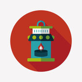 Christmas lantern flat icon with long shadow,eps10 — Vettoriale Stock