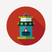 Christmas lantern flat icon with long shadow,eps10 — Stockvektor