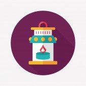 Christmas lantern flat icon with long shadow,eps10 — Vector de stock