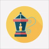Christmas lantern flat icon with long shadow,eps10 — Vetorial Stock