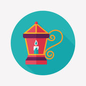 Christmas lantern flat icon with long shadow,eps10 — Stockvector