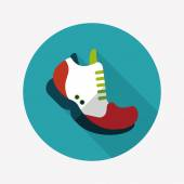 Sneaker flat icon with long shadow,eps10 — Vettoriale Stock