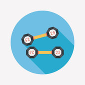 Dumbbell flat icon with long shadow,eps10 — 图库矢量图片