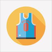 Basketball Kleidung flache Icon mit langen Schatten, eps10 — Stockvektor