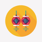 Chinese New Year flat icon with long shadow,eps10, Chinese festi — Stok Vektör