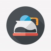 Coffee pot flat icon with long shadow,eps10 — 图库矢量图片
