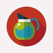 Coffee kettle flat icon with long shadow,eps10 — ストックベクタ