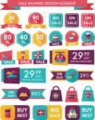Travel sale banner design flat background set, eps10 — Stock Vector