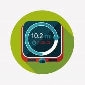 Stopwatch platte pictogram met lange schaduw, eps10 — Stockvector