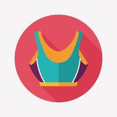 Costume de natation icône plate à grandissime, eps10 — Vecteur