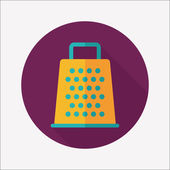 Kitchenware grater flat icon with long shadow,eps10 — ストックベクタ