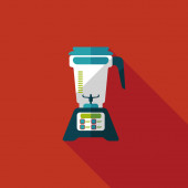 Kitchenware electric juicer flat icon with long shadow,eps10 — Wektor stockowy