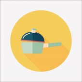 Kitchenware pot flat icon with long shadow,eps10 — Cтоковый вектор