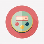 Kitchenware timer flat icon with long shadow,eps10 — Vettoriale Stock