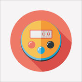 Kitchenware timer flat icon with long shadow,eps10 — Stockvektor