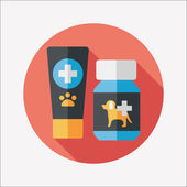 Pet drug flat icon with long shadow,eps10 — Stock Vector