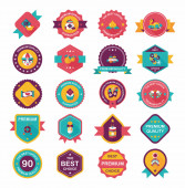 Chinese New Year badge flat banner design background set, eps10 — Vecteur