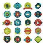 Pet badge flat banner design background set, eps10 — Stock Vector #58038457