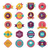 Baby badge banner design flat background set, eps10 — Stock Vector