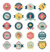 Halloween distintivo banner design sfondo piatto fisso, eps10 — Vettoriale Stock