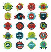 Hospital badge banner design flat background set, eps10 — Stockvektor