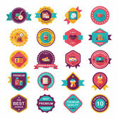 Hospital badge banner design flat background set, eps10 — Vector de stock