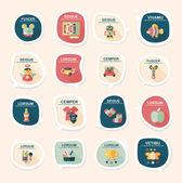 Baby bubble speech banner design flat background set, eps10 — Stockvector