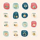 Toy speech bubble banner design flat background set, eps10 — Vecteur
