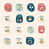 Toy speech bubble banner design flat background set, eps10 — Wektor stockowy