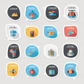 Travel bubble speech banner design flat background set, eps10 — Stock Vector