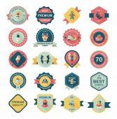 Halloween badge banner design flat background set, eps10 — Stockvector