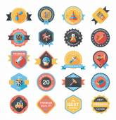 Toy badge banner design flat background set, eps10 — Stockvector