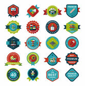 Baby badge banner design flat background set, eps10 — Stockvector