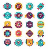 Baby badge banner design flat background set, eps10 — 图库矢量图片