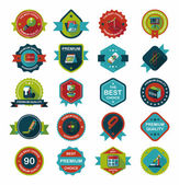 School badge banner design flat background set, eps10 — Stockvector